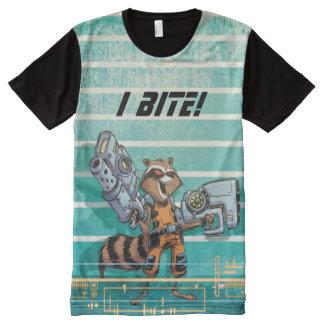 Guardians of the Galaxy | Rocket Mugshot All-Over Print T-Shirt