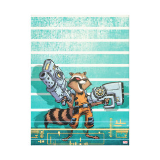 Guardians of the Galaxy | Rocket Mugshot Canvas Print