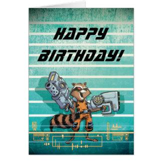 Guardians of the Galaxy | Rocket Mugshot Card