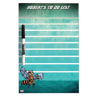 Guardians of the Galaxy | Rocket Mugshot Dry Erase Board