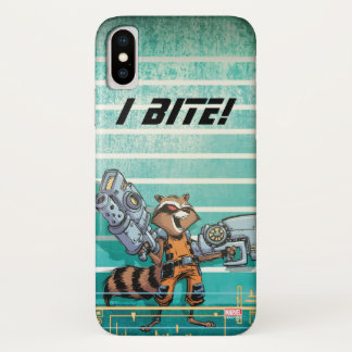 Guardians of the Galaxy | Rocket Mugshot iPhone X Case