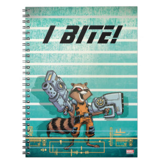 Guardians of the Galaxy | Rocket Mugshot Spiral Note Book