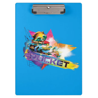 Guardians of the Galaxy | Rocket Neon Graphic Clipboard