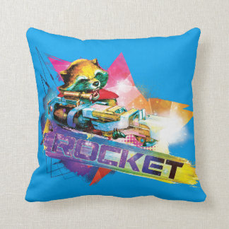 Guardians of the Galaxy | Rocket Neon Graphic Cushion