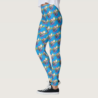 Guardians of the Galaxy | Rocket Neon Graphic Leggings