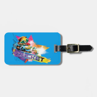 Guardians of the Galaxy   Rocket Neon Graphic Luggage Tag
