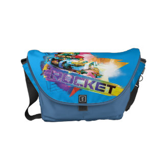 Guardians of the Galaxy | Rocket Neon Graphic Messenger Bags
