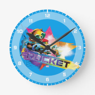 Guardians of the Galaxy | Rocket Neon Graphic Round Clock