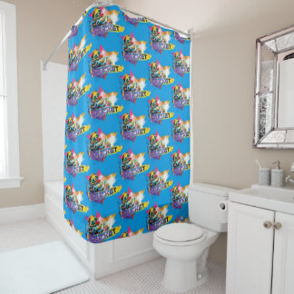 Guardians of the Galaxy | Rocket Neon Graphic Shower Curtain