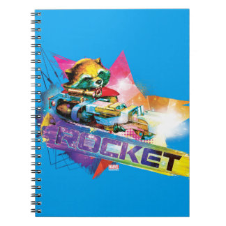 Guardians of the Galaxy | Rocket Neon Graphic Spiral Notebook