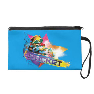 Guardians of the Galaxy | Rocket Neon Graphic Wristlet Clutch
