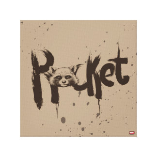 Guardians of the Galaxy | Rocket Painted Name Canvas Print