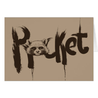 Guardians of the Galaxy | Rocket Painted Name Card