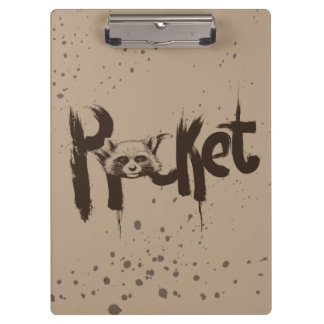 Guardians of the Galaxy | Rocket Painted Name Clipboard