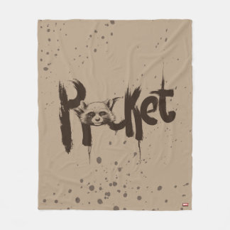 Guardians of the Galaxy | Rocket Painted Name Fleece Blanket