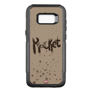 Guardians of the Galaxy | Rocket Painted Name OtterBox Commuter Samsung Galaxy S8+ Case