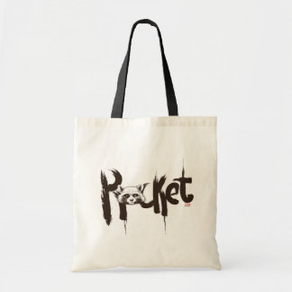 Guardians of the Galaxy | Rocket Painted Name Tote Bag