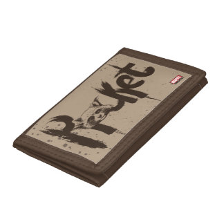 Guardians of the Galaxy | Rocket Painted Name Trifold Wallets