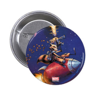 Guardians of the Galaxy | Rocket Riding Missile 6 Cm Round Badge