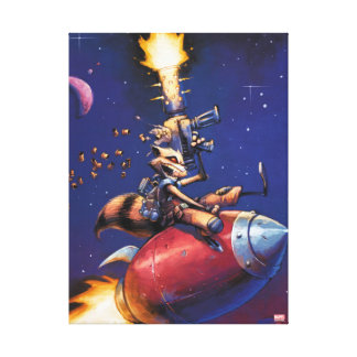 Guardians of the Galaxy | Rocket Riding Missile Canvas Print