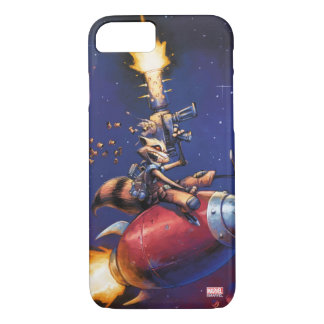 Guardians of the Galaxy | Rocket Riding Missile iPhone 8/7 Case