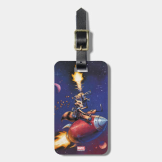 Guardians of the Galaxy   Rocket Riding Missile Luggage Tag
