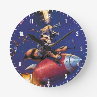 Guardians of the Galaxy | Rocket Riding Missile Round Clock