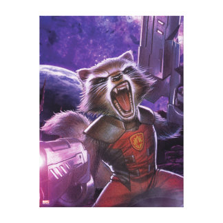 Guardians of the Galaxy | Rocket With Guns Canvas Print