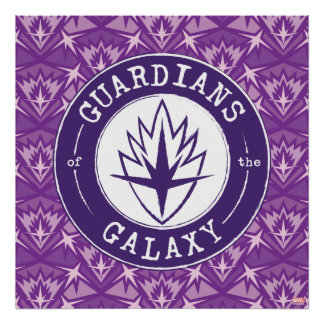 Guardians of the Galaxy | Round Vintage Logo Poster