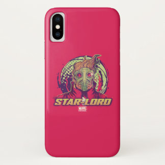 Guardians of the Galaxy | Star-Lord Badge iPhone X Case