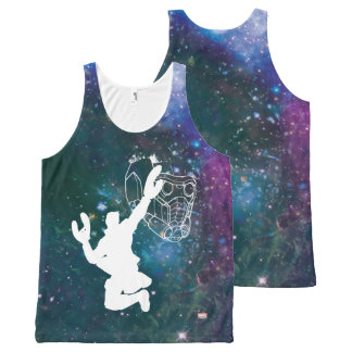 Guardians of the Galaxy   Star-Lord Galaxy Cutout All-Over Print Tank Top