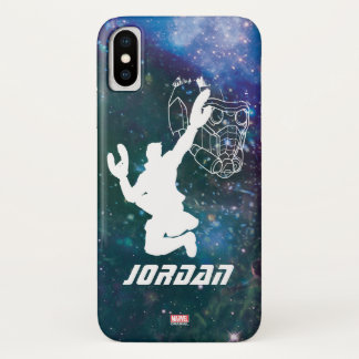 Guardians of the Galaxy | Star-Lord Galaxy Cutout iPhone X Case