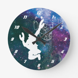 Guardians of the Galaxy | Star-Lord Galaxy Cutout Round Clock