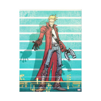 Guardians of the Galaxy | Star-Lord Mugshot Canvas Print