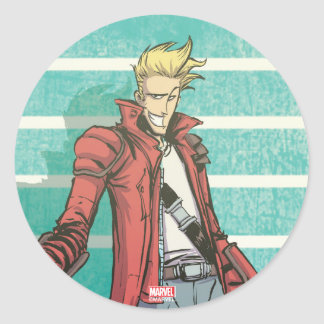 Guardians of the Galaxy | Star-Lord Mugshot Classic Round Sticker