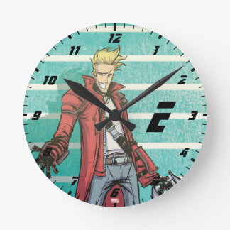 Guardians of the Galaxy | Star-Lord Mugshot Round Clock