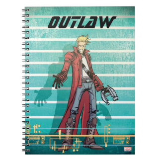Guardians of the Galaxy | Star-Lord Mugshot Spiral Notebook