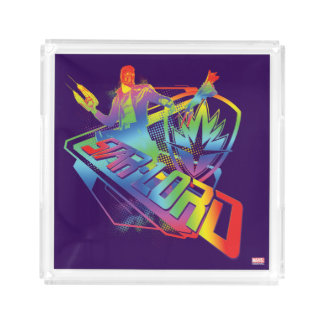 Guardians of the Galaxy | Star-Lord Neon Graphic Acrylic Tray