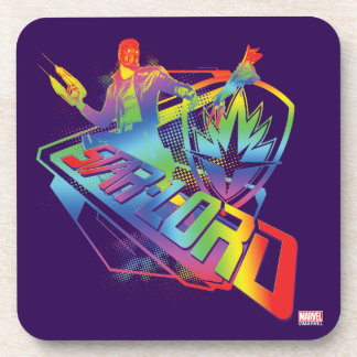 Guardians of the Galaxy | Star-Lord Neon Graphic Coaster