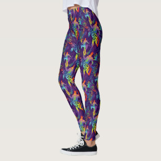 Guardians of the Galaxy | Star-Lord Neon Graphic Leggings