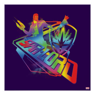 Guardians of the Galaxy | Star-Lord Neon Graphic Poster