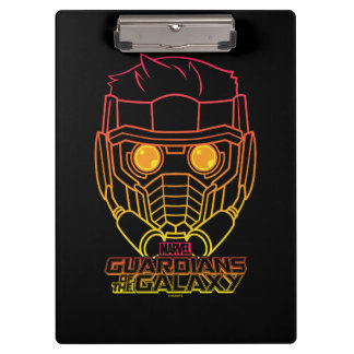 Guardians of the Galaxy | Star-Lord Neon Outline Clipboards