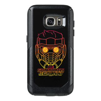 Guardians of the Galaxy | Star-Lord Neon Outline OtterBox Samsung Galaxy S7 Case