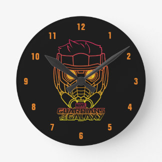 Guardians of the Galaxy | Star-Lord Neon Outline Round Clock