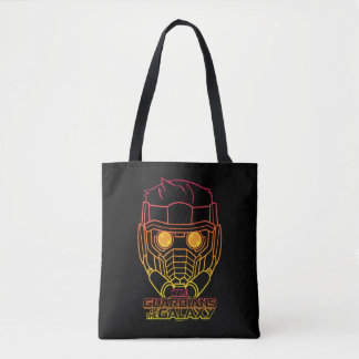 Guardians of the Galaxy | Star-Lord Neon Outline Tote Bag