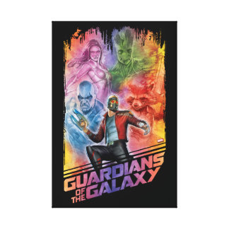 Guardians of the Galaxy | Technicolor Crew Art Canvas Print