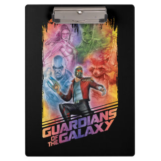 Guardians of the Galaxy | Technicolor Crew Art Clipboard