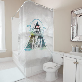 Guardians of the Galaxy | Triangle Outline Crew Shower Curtain