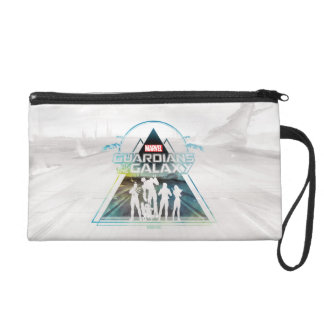 Guardians of the Galaxy   Triangle Outline Crew Wristlet Clutch