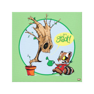 Guardians of the Galaxy | Watering Groot Canvas Print